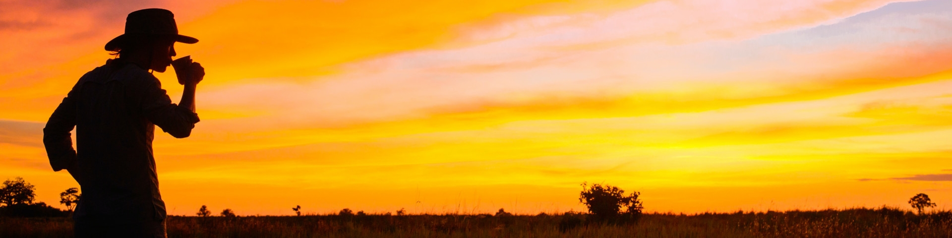 7 Day Best of Kwando Botswana Safari Banner Kwando Lebala Camp Tea at sunrise