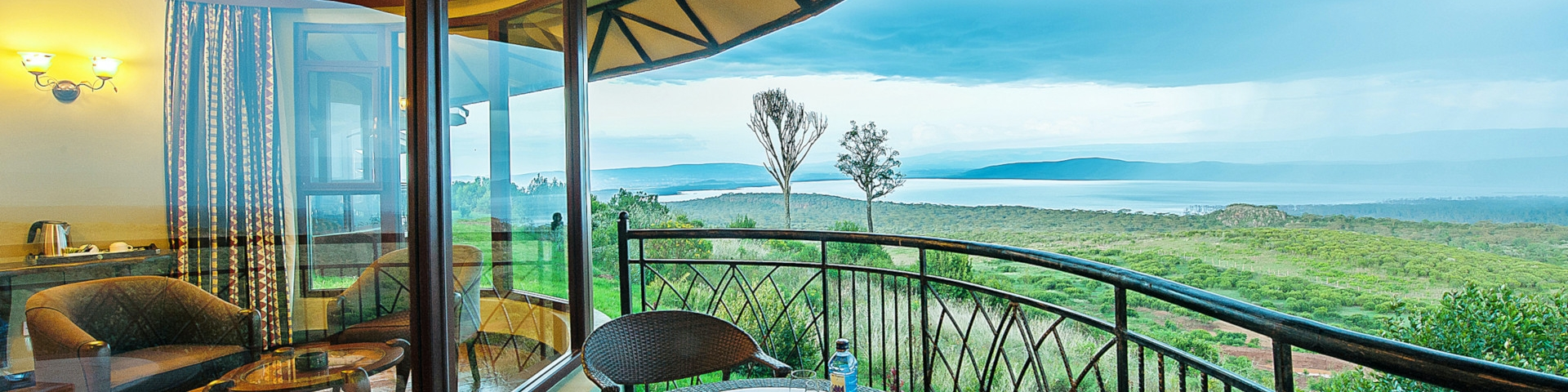 Accommodation in Lake Nakuru and Lake Naivasha Kenya View of Hills and Lake