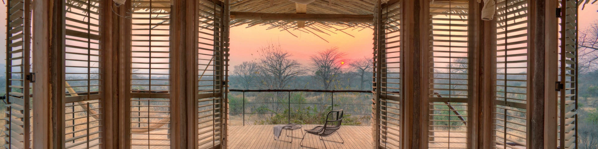 Accommodation in Ruaha National Park Tanzania Sunset from Bedroom