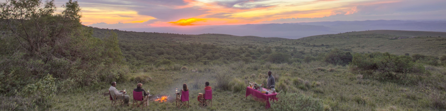Tours and Safaris to Ngorongoro Crater Region Tanzania Highlands Sundowners