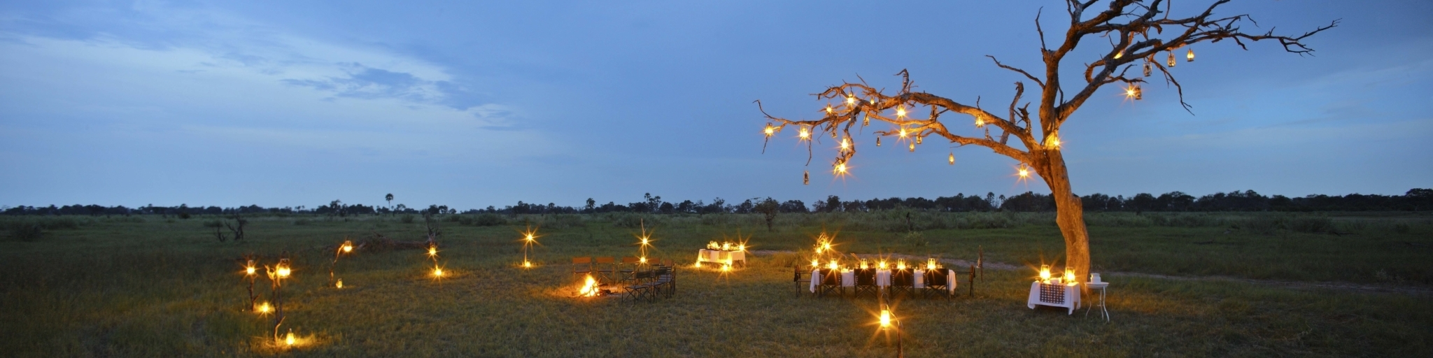 Decor lights at Camp Okavango, Botswana