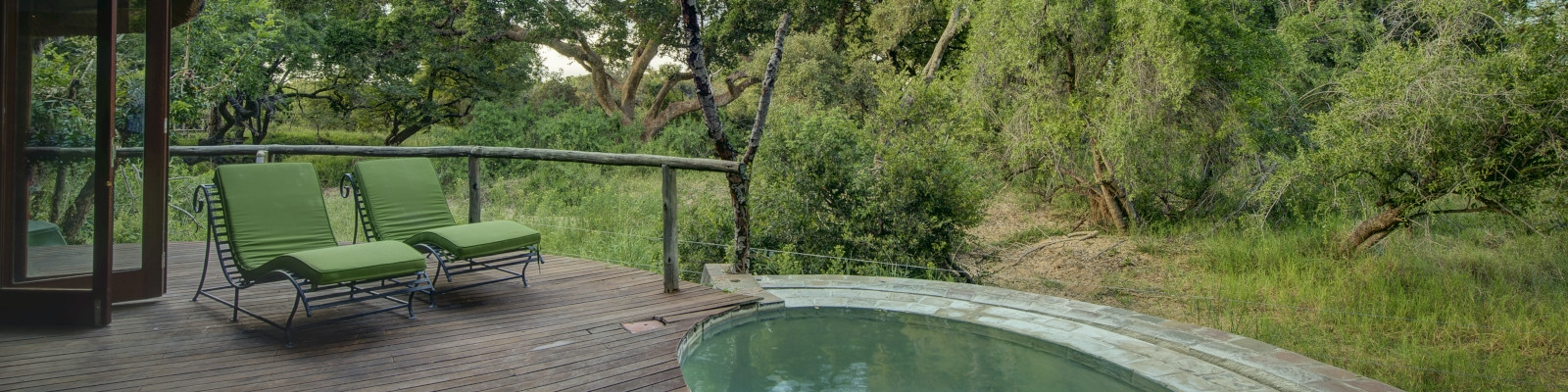 Private bush facing plunge pool