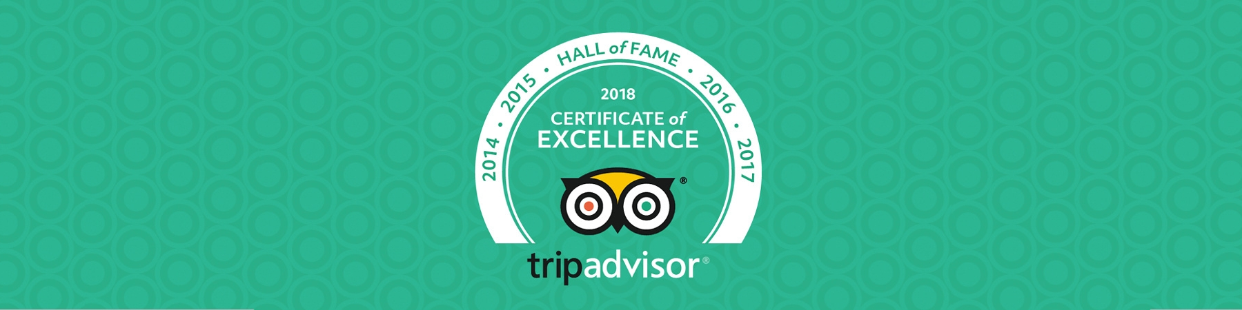 Trip Advisor Hall of Fame 2018