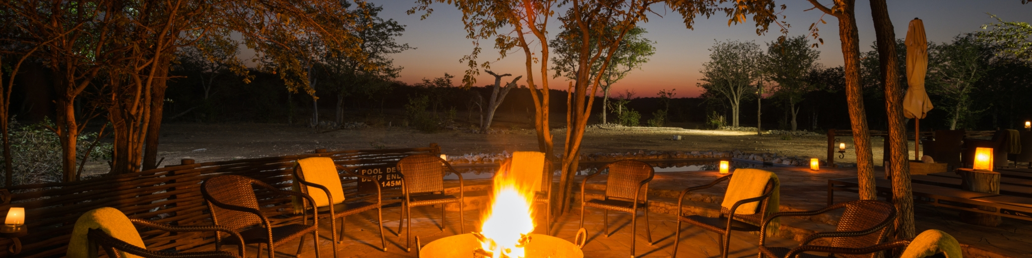 Fire-place at Ongava Tented Camp