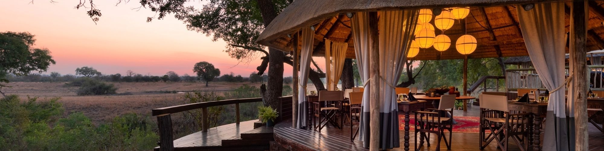 Sabi Sabi Selati Camp, safari deck banner